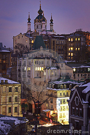 Free Ukraine: Old Buildings In Kiev Royalty Free Stock Image - 23743556