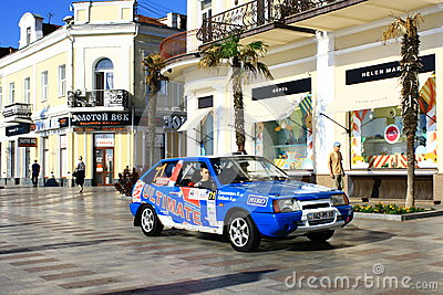 Ukraine. Rally Prime Yalta Rally 2012 Editorial Photography
