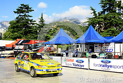 Ukraine. Rally Prime Yalta Rally 2012 Editorial Stock Photo