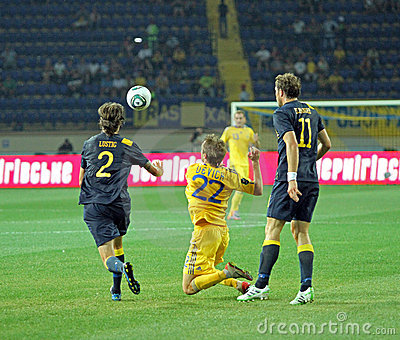 Ukraine - Sweden national teams football match Editorial Photo