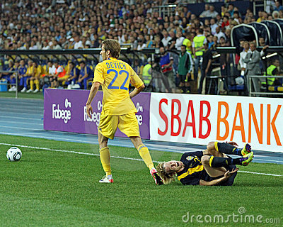 Ukraine - Sweden national teams football match Editorial Image
