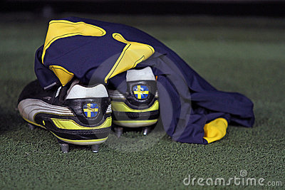 Ukraine - Sweden teams football match Editorial Stock Photo