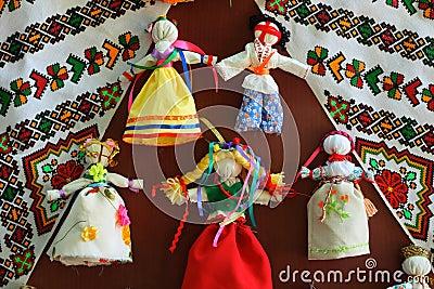 Ukraine traditional dolls