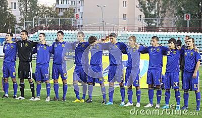 Ukraine (Under-21) National team Editorial Photography