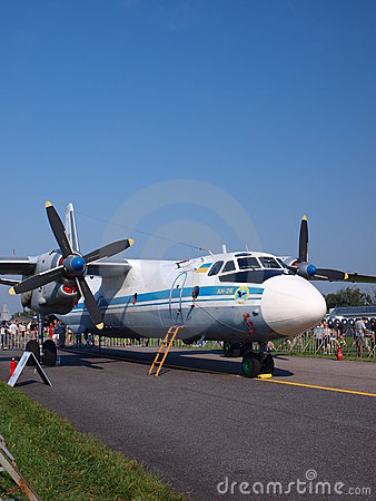 Ukrainian AN-26, Radom, Poland Editorial Image
