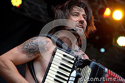 Ukrainian band Haydamaky plays in Linz Editorial Stock Photo