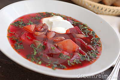 Ukrainian beetroot soup