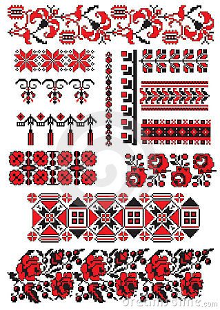 Ukrainian embroidery pack