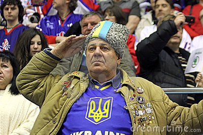 Ukrainian fans Editorial Stock Image