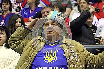 Ukrainian fans Editorial Stock Image