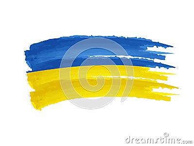 Ukrainian flag drawing