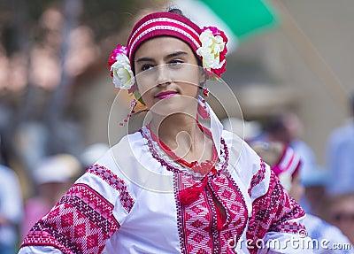 Ukrainian folk dancers Editorial Stock Image