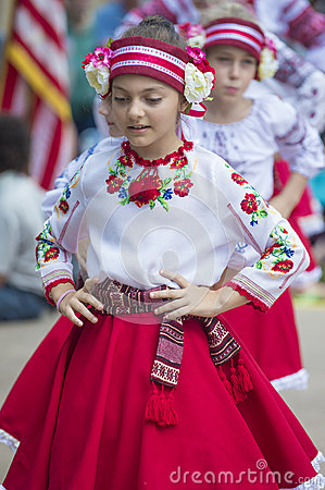 Ukrainian folk dancers Editorial Stock Photo