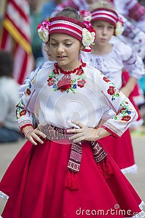 Ukrainian folk dancers Editorial Stock Photo