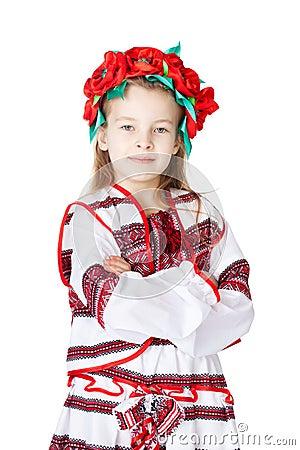 Ukrainian girl in national costume