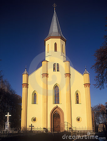 Free Ukrainian Greek Catholic Church In Tyachiv. Royalty Free Stock Image - 22372726