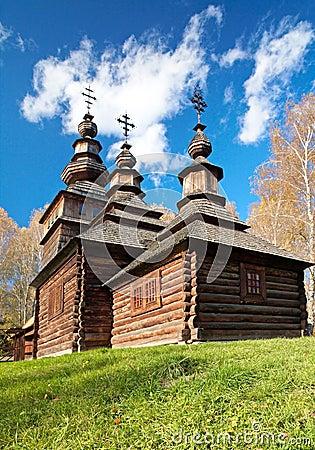Free Ukrainian Historical Country Wood Church Stock Photo - 16146950