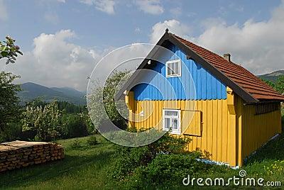 Ukrainian home in the village.