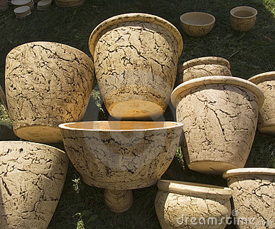 Ukrainian jugs from white clay