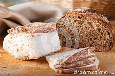 Ukrainian lard. Stock Image