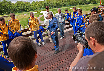 Ukrainian National football team Editorial Stock Photo
