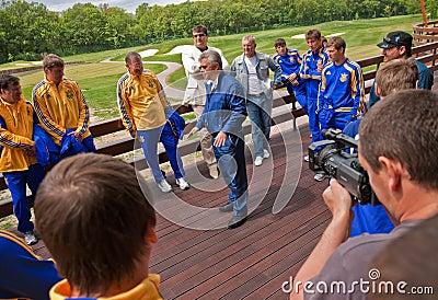 Ukrainian National football team Editorial Stock Photo
