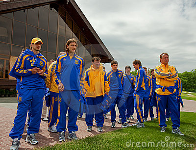 Ukrainian National football team players Editorial Stock Photo