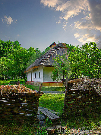 Ukrainian old country house