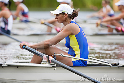Ukrainian rower concentrates Editorial Photography
