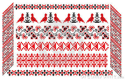 Ukrainian russian embroider pattern