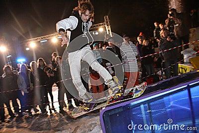 Ukrainian snowboarding championship Editorial Photo