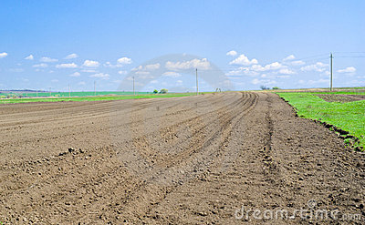 Ukrainian soil prepared for planting
