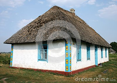 Ukrainian traditional rural house
