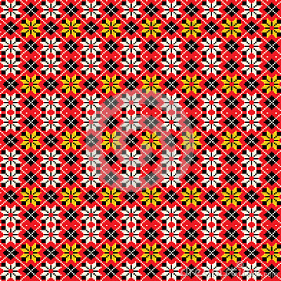 Ukrainian traditional seamless pattern