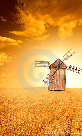 Ukrainian traditional windmill