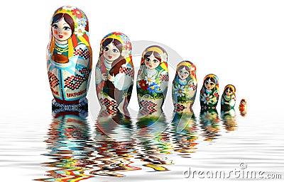 ukrainische babuschka puppen stockfoto bild 5494120. Black Bedroom Furniture Sets. Home Design Ideas