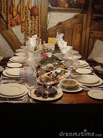 Ukranian Dinner Editorial Stock Image
