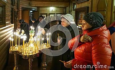 Ukranian Orthodox Christians celebrate Christmas Editorial Stock Image