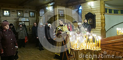 Ukranian Orthodox Christians celebrate Christmas Editorial Image