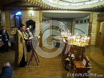 Ukranian Orthodox Christians celebrate Christmas Editorial Photo