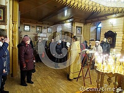 Ukranian Orthodox Christians celebrate Christmas Editorial Stock Photo