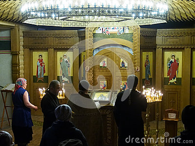 Ukranian Orthodox Christians celebrate Christmas Editorial Stock Photo