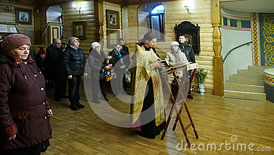 Ukranian Orthodox Christians celebrate Christmas Editorial Stock Image
