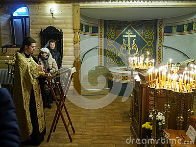 Ukranian Orthodox Christians celebrate Christmas Editorial Photo
