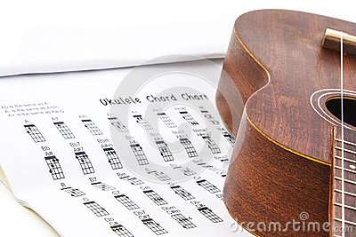 Ukulele and ukulele chord chart document