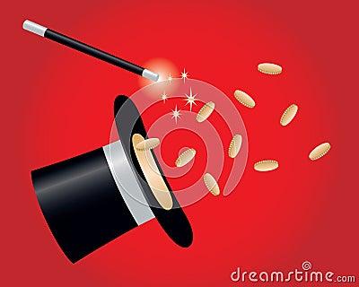 Ukuwać nazwę złocistą magiczną sztuczkę
