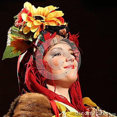 Free Ulia Fedoruca Performs Ukrainian Folk Show Royalty Free Stock Photos - 21992848
