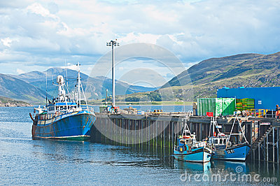 Ullapool harbour Editorial Stock Image