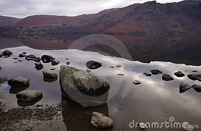Ullswater lake - big stones