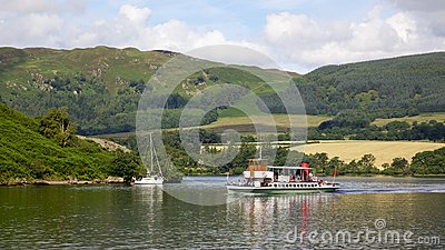 Ullswater Steamer Editorial Photo